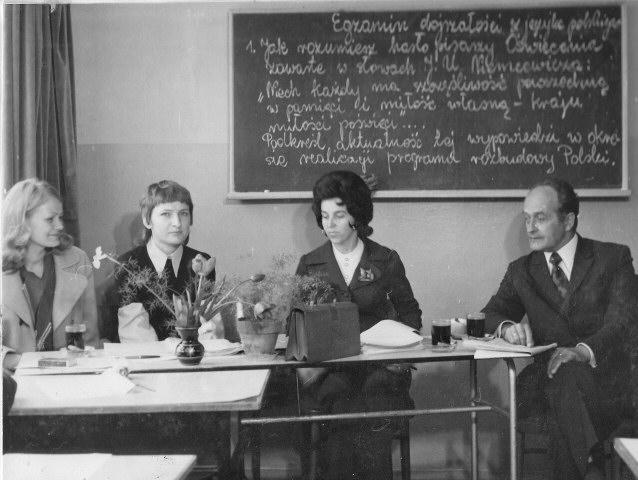 Maj 1974 Pierwsza matura w szkole